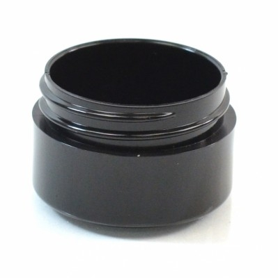 1/2 OZ 43/400 Thick Wall Straight Base Black PP Jar - 945/Case