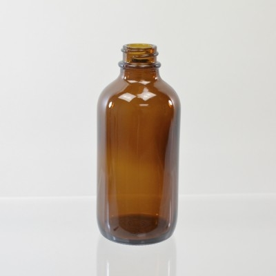 4 oz Boston Round 22/400 Amber Glass Bottle