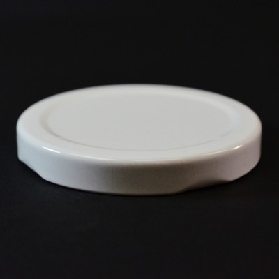 63MM RTD White Metal Cap / Plastisol Liner