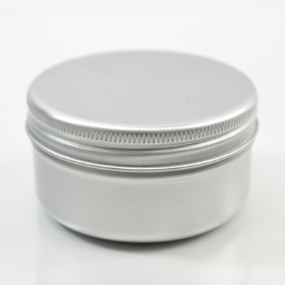50 ML Aluminum Metal Straight Base Jar