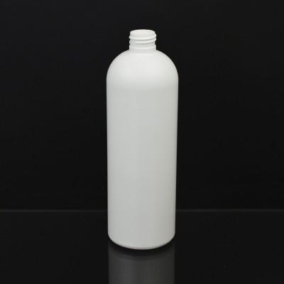 17 oz 24/410 Royalty Round White HDPE Bottle
