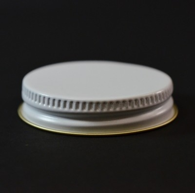45/400 CT White Gold Metal Continuous Thread Caps