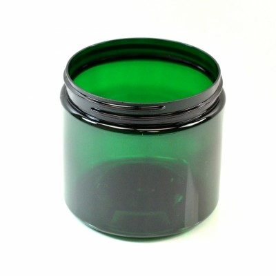 16 oz 89/400 Wide Mouth Emerald PET Jar