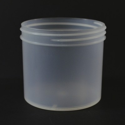 12 oz 89/400 Regular Wall Straight Base Natural PP Jar