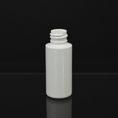 1 oz 20/410 Cylinder Round White HDPE Bottle