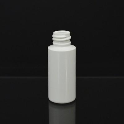 1 oz 20/410 Cylinder Round White HDPE Bottle