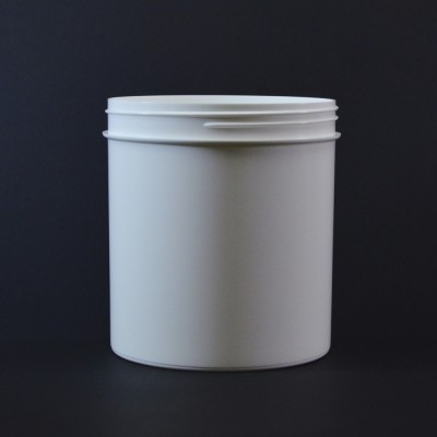 40 oz 120/400 Regular Wall Straight Base White PP Jar