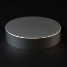 40/400 Matte Silver Metal Overshell Straight Sided Cap Foam Liner - 990/Case