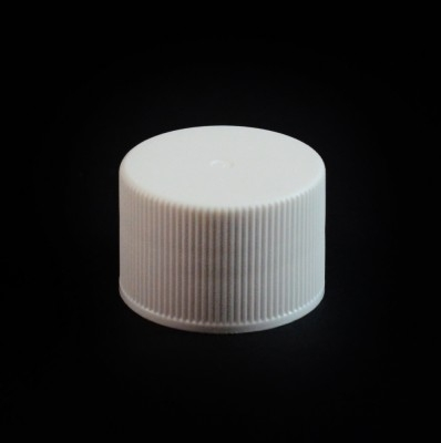 24/410 White Ribbed Straight PP Cap / Unlined