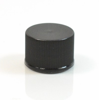 20/410 Black Ribbed Straight PP Cap / F217 Liner
