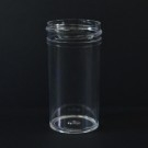 1.5 oz 38/400 Regular Wall Straight Base Clear PS Jar