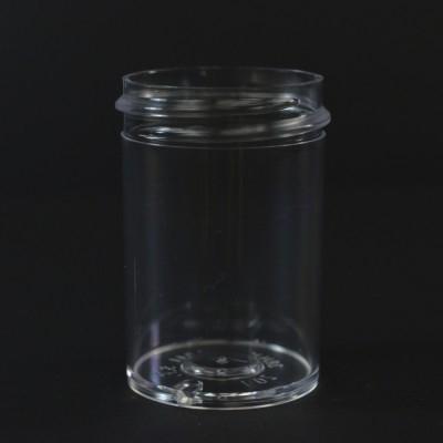 1 oz 38/400 Regular Wall Straight Base Clear PS Jar
