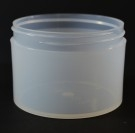 8 oz 89/400 Natural Thick Wall Straight Base PP Jar