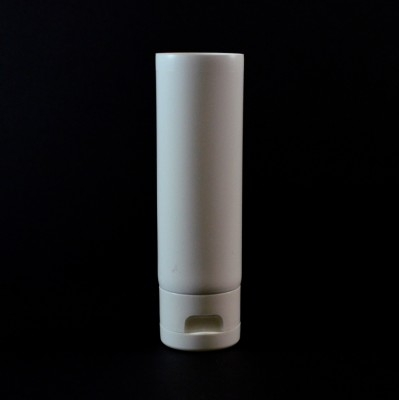 3 oz White MDPE Tube 1 3/8 X 5 11/16 with White Smooth Fliptop