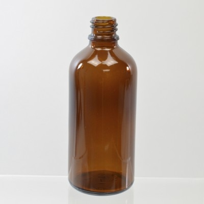 100 ml Euro Dropper 18-DIN Amber Glass Bottle