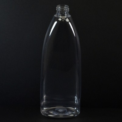16 oz 24/410 Tear Oval Clear PET Bottle