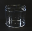 12 oz 89/400 Clear Thick Wall Straight Base PS Jar