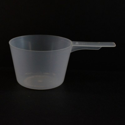70 cc Plastic Measuring Scoop Natural Short Handle 5.786 X 2.286 X 1.524