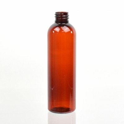 4 oz 20/410 Cosmo Round Amber PET Bottle