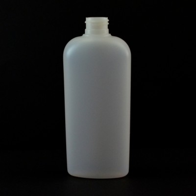 8 oz 24/410 Classic Oval Natural HDPE Bottle