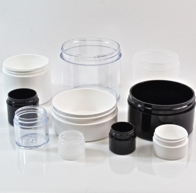 Thick Wall Straight Base Plastic Jars