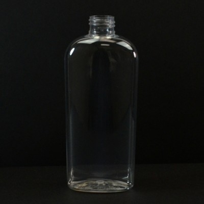 8 oz 24/410 Classic Oval Clear PET Bottle