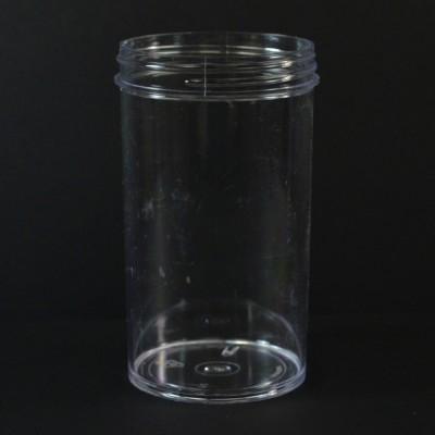8 oz 63/400 Regular Wall Straight Base Clear PS Jar