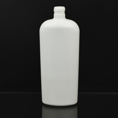 16 oz 24/415 Classic Oval White HDPE Bottle
