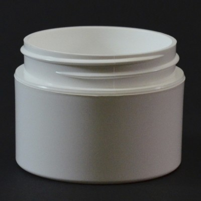 1 OZ 53/400 Double Wall Straight Base White PP Jar - 576/Case