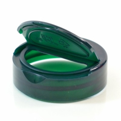 45/400 Smooth Trans Dark Green NutraFlapper Dispensing PP Cap