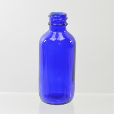 2 oz Boston Round 20/400 Cobalt Glass Bottle