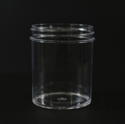 4 oz 58/400 Regular Wall Straight Base Clear PS Jar