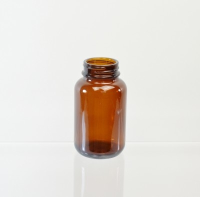 120CC 38/400 Amber Glass Nutritional Supplement Packer