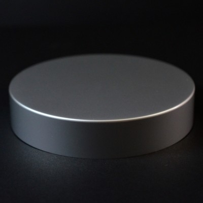 70/400 Matte Silver Metal Overshell Straight Sided Cap Foam Liner - 500/Case