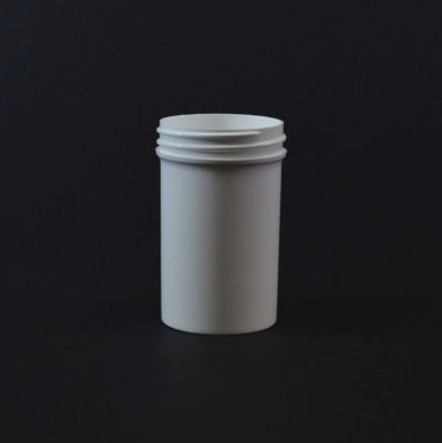 2 oz 48/400 Regular Wall Straight Base White PP Jar