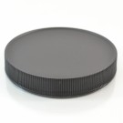 89/400 Black Ribbed Straight PP Cap / PS Liner - 580/Case