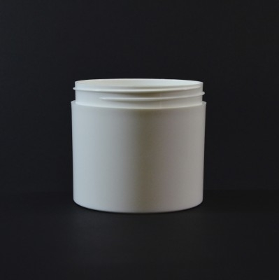 12OZ 89/400 Thick Wall Straight Base White PP Jar - 100/Case