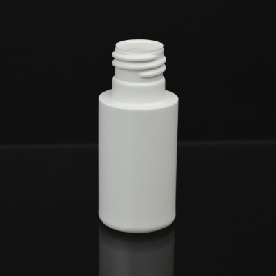 1 oz 20/415 Short Cylinder Round White HDPE Bottle