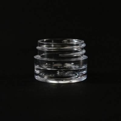 1/8 OZ 33/400 Thick Wall Straight Base Clear PS Jar - 1820/Case