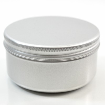 100 ML Aluminum Metal Straight Base Jar