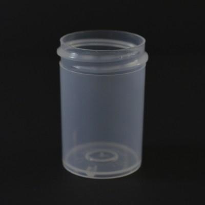 1 oz 38/400 Regular Wall Straight Base Natural PP Jar