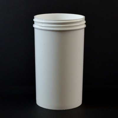 8 oz 63/400 Regular Wall Straight Base White PP Jar