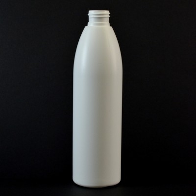8 oz 24/410 Evolution Round White HDPE Bottle