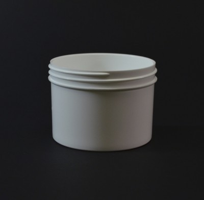 8 oz 89/400 Regular Wall Straight Base White PP Jar