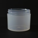 3 OZ 58/400 Thick Wall Straight Base Natural PP Jar - 396/Case