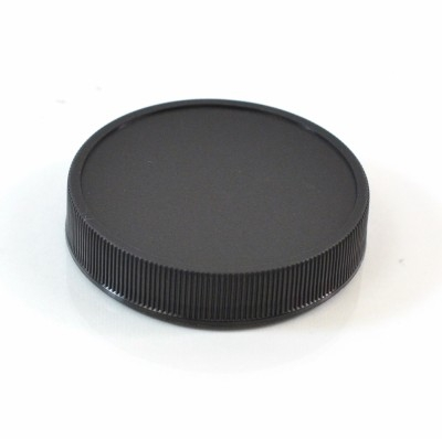 58/400 Black Ribbed Straight PP Cap / PS Liner - 1100/Case
