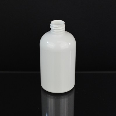 4 oz 20/410 Squat Boston Round White PET Bottle