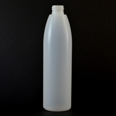 12 oz 24/410 Evolution Round Natural HDPE Bottle