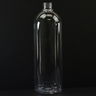 32 oz 28/410 Cosmo Round Clear PET Bottle