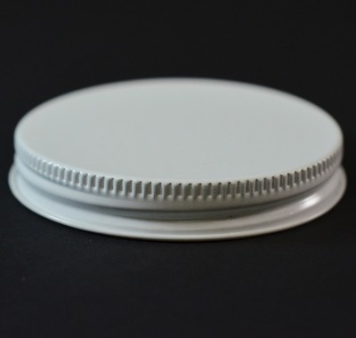 63/400 White-White Metal Cap